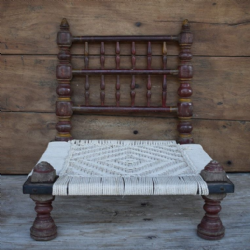 Antique Tribal Pida Chair (restrung seat) <b>SOLD<b>